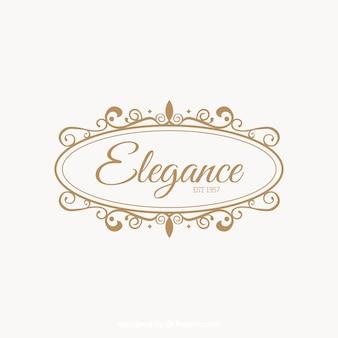 Logo en estilo vintage y de lujo
