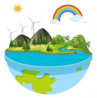 Un logo de energía verde.