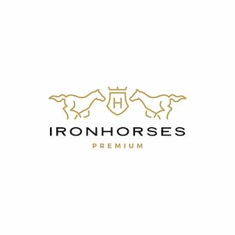 Logo de escudo de caballo