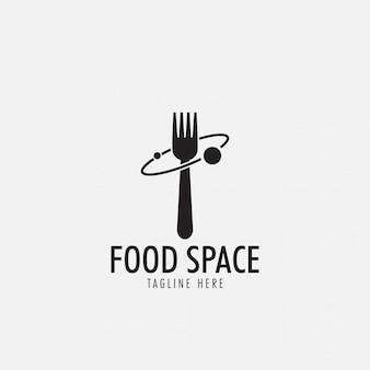 Logo de espacio de comida