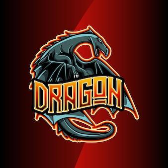 Logo esport dragon personaje