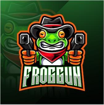 Logo de esport de pistola de rana