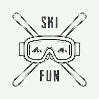 Logo de esquí o deportes de invierno