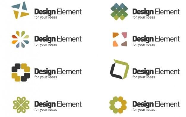 Logo extrañas estrellas y plazas de elementos de diseño