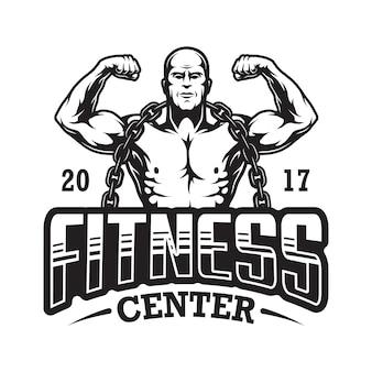 Logo de fitness vintage