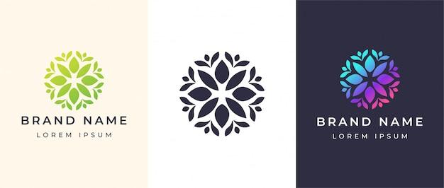 Logo de flor abstracta