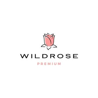 Logo de flor rosa