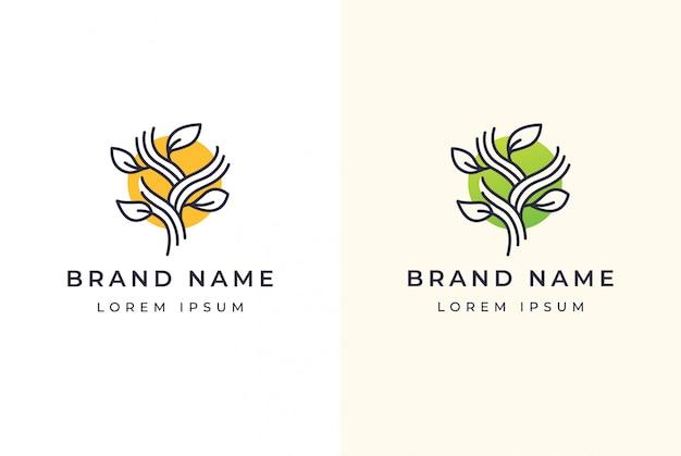 Logo floral abstracto