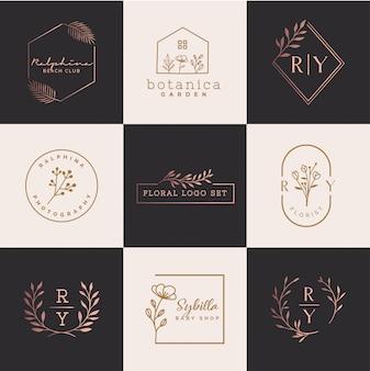 Logo floral set