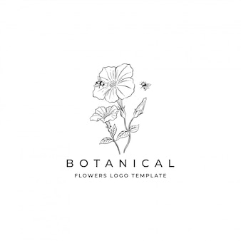 Logo de flores dibujadas a mano