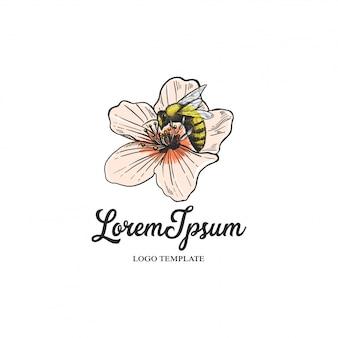 Logo de floristería con flores