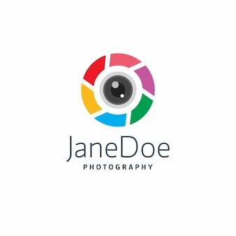 Logo de fotografía colorido