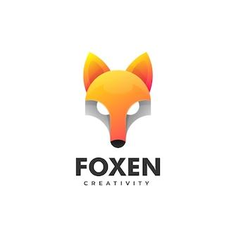 Logo fox estilo colorido degradado