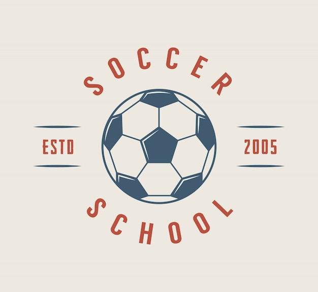 Logo de futbol o futbol