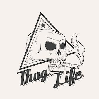 Logo de gángster retro
