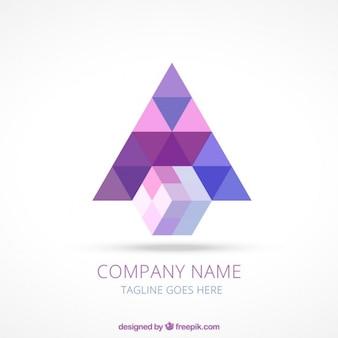 Logo geométrico abstracto