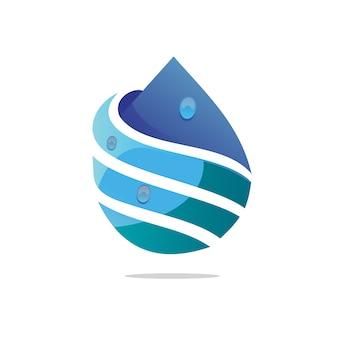 Logo de gota de agua