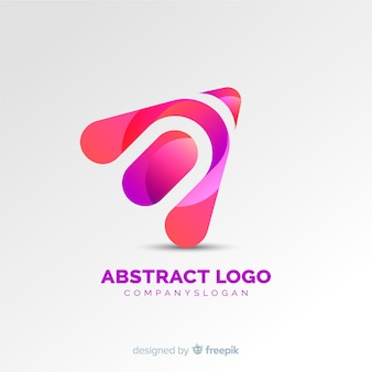 Logo gradiente abstracto