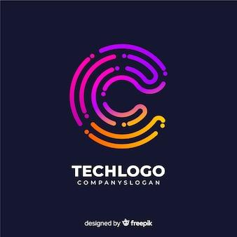 Logo gradiente de tecnología