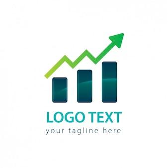 Logo de gráfica con una flecha
