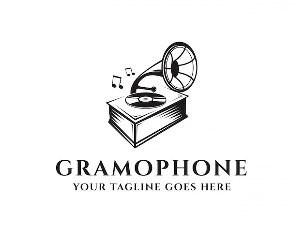 Logo de gramófono vintage