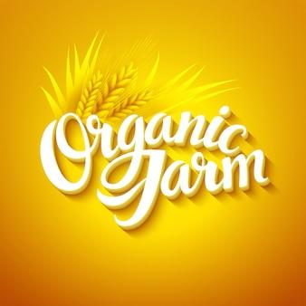 Logo de granja orgánica