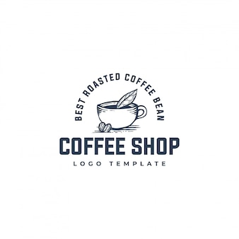 Logo de granos de café orgánicos