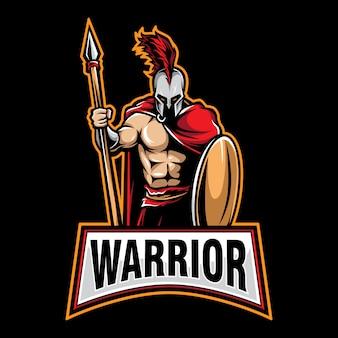 Logo de guerrero de juego