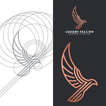 Logo de halcon de lujo