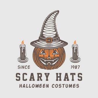 Logo de halloween, emblema