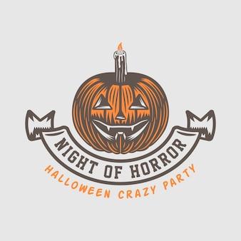 Logo de halloween setor emblema