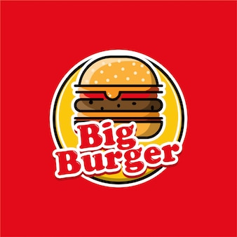Logo de hamburguesa grande