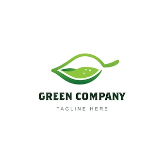 Logo de hoja verde