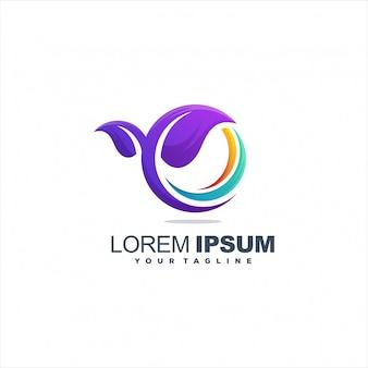 Logo de hojas coloridas