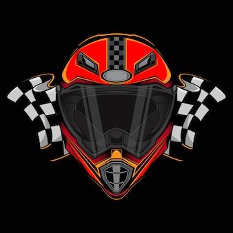 Logo de icono de casco de carreras