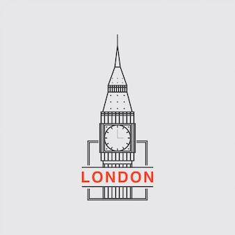 Logo de icono de la ciudad de londres