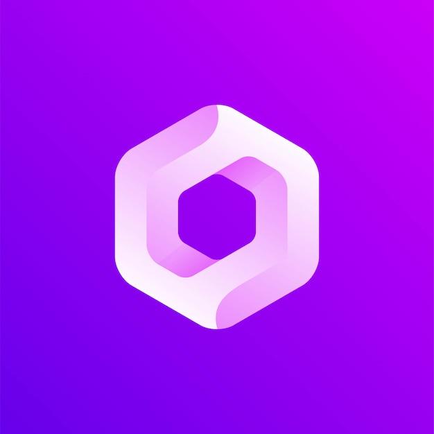 Logo de icono hexagonal