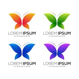 Logo icono mariposa diseño animal