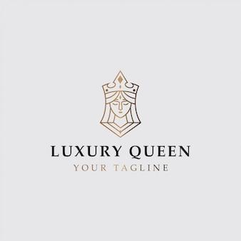 Logo de icono de reina de lujo