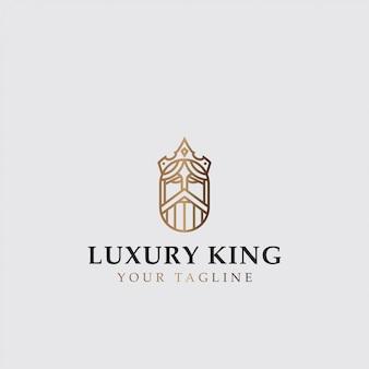 Logo de icono del rey de lujo