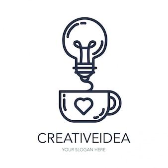 Logo de idea de éxito creativo