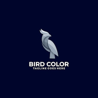 Logo illustration bird gradient estilo colorido.