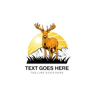 Logo de ilustración de ciervos