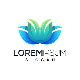 Logo impresionante de la flor