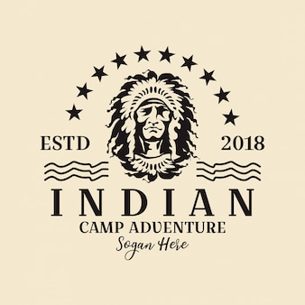 Logo de india americana redonda