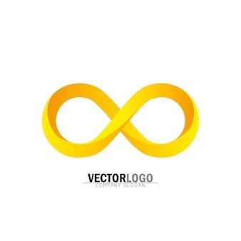 Logo de infinito dorado