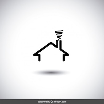 Logo de inmobiliaria de casa negra