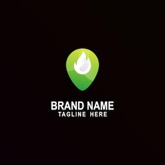 Logo de inspiración increíble fire pin