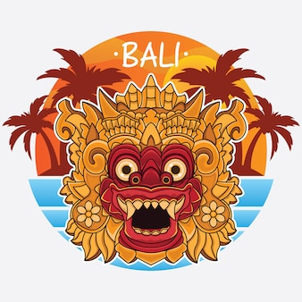 Logo de la isla de bali de diseño