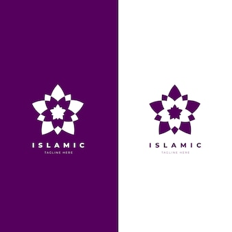 Logo islámico minimalista en dos colores.